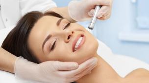 tratamento facial com peeling